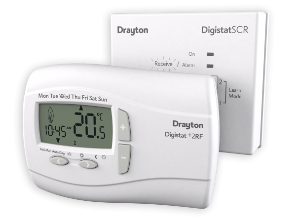 drayton wireless thermostat digistat 2 rf plumbbox. Black Bedroom Furniture Sets. Home Design Ideas