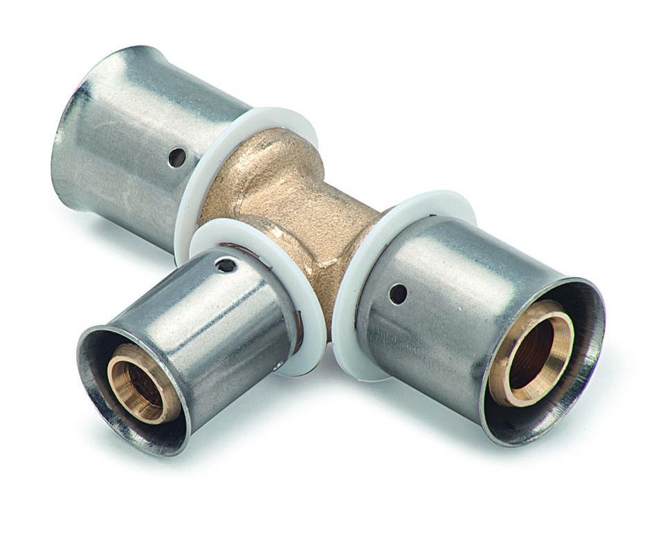 Plumb Centre Radiators >> Press 32 x 25 x 32 Reducing Centre Tee - PLUMBBOX